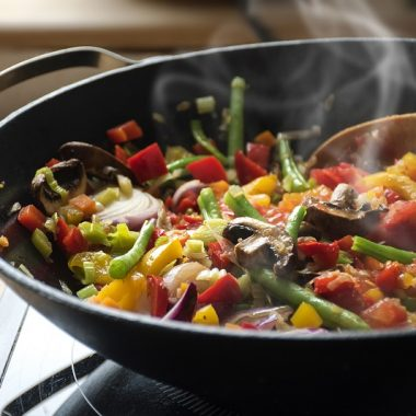steaming mixed vegetables